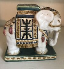 Vintage 1960s Hand Made Glazed Standing Elephant Made in Vietnam collectible