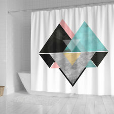 New ListingVintage Abstract Shower Curtain, Shower Curtain Decor, Shower Curtains Waterproo
