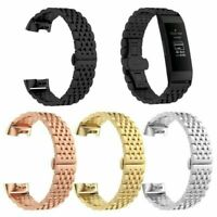 Stainless Steel für Fitbit Charge 3 Link Bracelet Metal Wrist Band Watch Strap