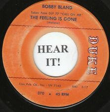 Bobby Bland NORTHERN 45 (Duke 370) The Feeling Is Gone /I Can't Stop Singing