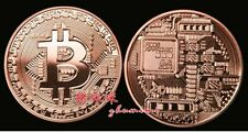 Copper Bitcoin Commemorative Round Collector Coin Bit Coin is Copper Plated Coin
