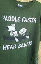 2010 Family Guy Paddle Faster I Hear Banjos  T-shirt Size XL