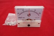 DC Minus Zero Plus -100uA-+100uA Analog 85C1 Analogue Ammeter AMP Panel meter