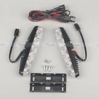 2x 6 LED White Universal 12V Car DRL Daytime Running Light Fog Lamp Waterproof