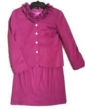 Purple Knit Pageant Interview suit size 14/16. Great for Mac/Nam. Heart Buttons!