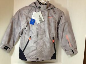 London Fog Boys Hooded Fleece Lined Jacket, Size 2T or 5, Gray, NWT