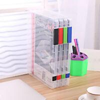 Hot School A4 Transparent Paper Storage Document Box Plastic File Folder
