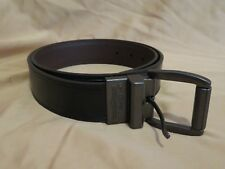 New Men's Levi's Black & Brown Reversible Genuine Leather Belt + Logo Buckle 34