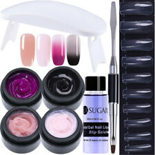 8Pcs Nagel Gellack Poly AcrylGel Collor Changing Nagel Dryer UV Gel Brush Lot