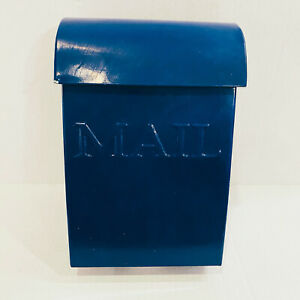 pottery barn blue kids boys metal mailbox decor Wall hanging Indoor Mailing