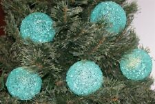 New Set of 5 Illuminated Sparkle Snowballs by Valerie Parr Hill Lighted W/Timer