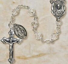 Crystal Vienna Collection Rosary 7 mm Beads NEW Creed (SO27CR20D)Jewelry Box