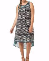 Karen Kane Sleeveless Chiffon Dip Dye Hi-Lo Hem Maxi Dress Size L