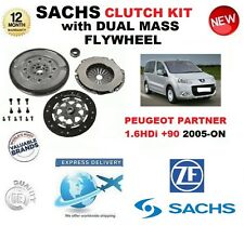 FOR PEUGEOT PARTNER 1.6 HDi + 90 SACHS CLUTCH KIT 2005-ON with FLYWHEEL & BOLTS