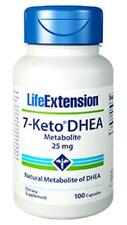 TWO BOTTLES $17.50 Life Extension 7-Keto DHEA 25 mg weight fat loss NON GMO