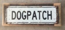 Dogpatch San Francisco Potrero Hill 94107 California Vintage Framed Street Sign