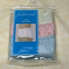 Fundamentals Pretty Pastel 3-Pair Packaged Panties. Yellow, Pink & Blue. Size 6