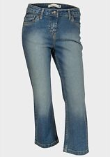 Ladies Cropped Denim Jeans ex chainstore Cotton Trousers Womens Stretch  Pants