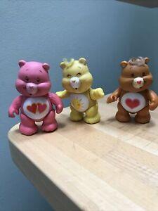 Vintage 1983 Care Bear Figures X 3 Poseable Tenderheart Funshine Love A Lot