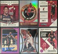 Lot of (6) Bam Adebayo, Including Essential Rookies, Contenders RC & RC insert