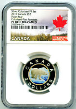 2019 $2 CANADA SILVER PROOF TOONIE NGC PF70 GILT COLORED TWO DOLLAR KEY COIN
