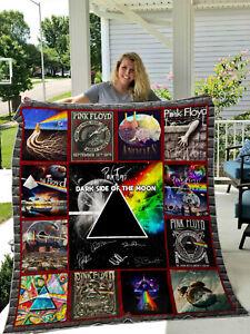 Quilt Customized Gifts for Men Women Kids Pink Floyd Lyric X DSOTM Bedding Set Throw Size