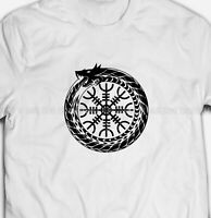 Mens or Womens Vikings Helm of Awe Runes 100% COTTON S-5XL SIZE T-shirt Tee