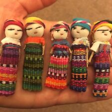 5 Large Worry Dolls / People in a Bag Handmade in Guatemala Fair Trade + Info