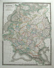 RUSSIA, POLAND, UKRAINE, LATVIA, ESTONIA etc S.Hall large antique map 1828