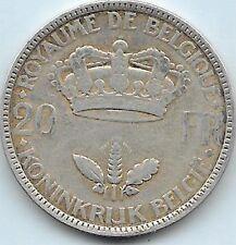 20 Francs argent Léopold III  1935 FR-FL Pos B