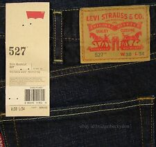 Levis 527 Jeans Mens New Slim Boot Cut Size 38 x 34 BLACK INDIGO Levi's #167