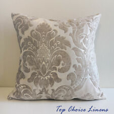 45cm x 45cm Home Decor Chenille Texture Damask Jaquard Cushion Cover- Beige