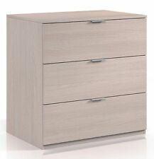 Lina Contemporary 3 Drawer Chest of Drawers Luxury Quality Light Oak Melamine