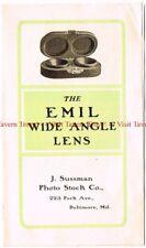 1900s J Sussman EMIL Wide Angle Lens Brochure