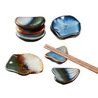 Chopsticks Holder Ceramic Stand Glaze Ingots Kitchen Spoon Fork Rest Tableware