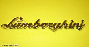 LAMBORGHINI DIABLO GALLARDO MURCIELAGO REAR METAL CHROMED EMBLEM BADGE OEM 1991-