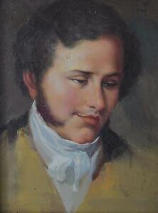 Portrait of a Scholar Unsigned Oil on Board c1800– 820 British School Framed