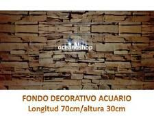 FONDO DECORATIVO de ACUARIO longitud 70cm altura 30cm roca terrario pecera D454