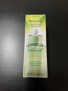 Aveeno Positively Radiant MAXGLOW Infusion Drops, Dropper Dispenser, 1.35 fl. oz