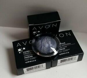 Avon Marbleized Baked Eyeshadow Midnight Frost, lot of 3