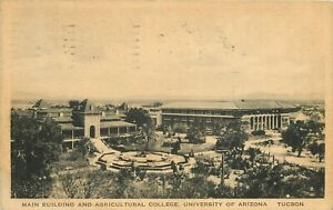 1926 Main Building and Ag College, University of Arizona, Tucson Postcard