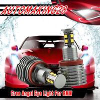 6500K H8 160W CREE LED Angel Eye Ring Marker Light Bulbs For BMW 1 3 5 X Series