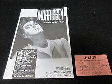 Morrissey 1991 Japan Tour Flyer with Ticket Stub Kill Uncle era Smiths C86