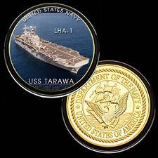 USS Tarawa (LHA-1) GP Challenge pinted Coin