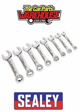 Sealey S0976 Combination Spanner Set 8pc Stubby Imperial