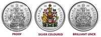 🇨🇦 Rare Canada 3 different 50 cents coins, Coat of Arms Proof, Silver, BU 2020