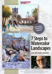 MICHAEL HOLTER: 7 STEPS TO WATERCOLOR LANDSCAPES -ART EDUCATION DVD