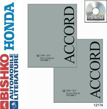 2008 2009 2010 2011 Honda Accord Shop Service Repair Manual CD Engine Electrical