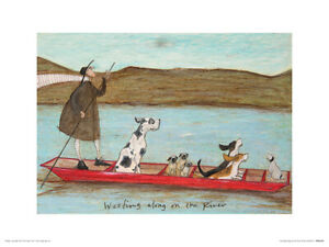 Sam Toft Woofing along on the River Art Print 30 x 40 cm Officially Licensed