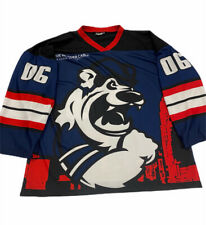 Vintage Charlotte Checkers Ice Hockey Jersey Red Navy Size XL